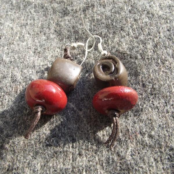 Kolczyki Zakręcone truskawki